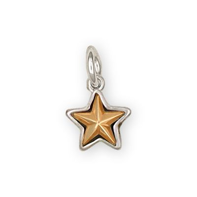 Texas Star Sterling Silver Charm