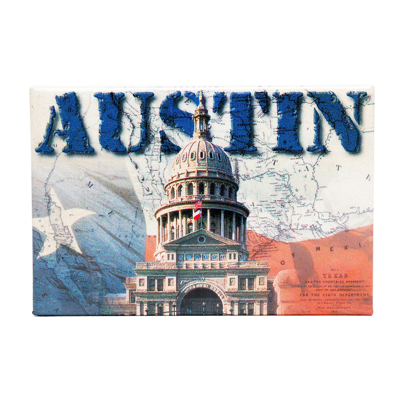 Texas Capitol and State Flag Magnet