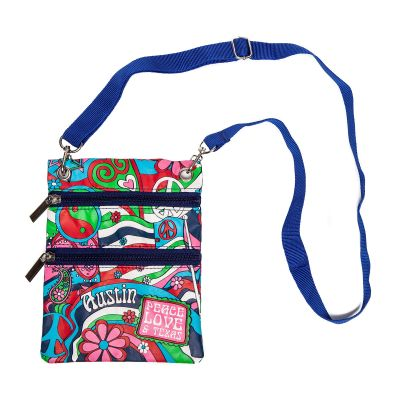 Austin: Peace, Love, and Texas Vinyl Cross Body Bag