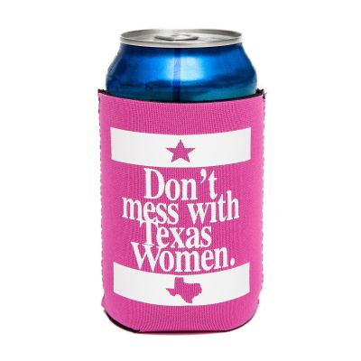 Don't Mess with Texas Women Pink Koozie