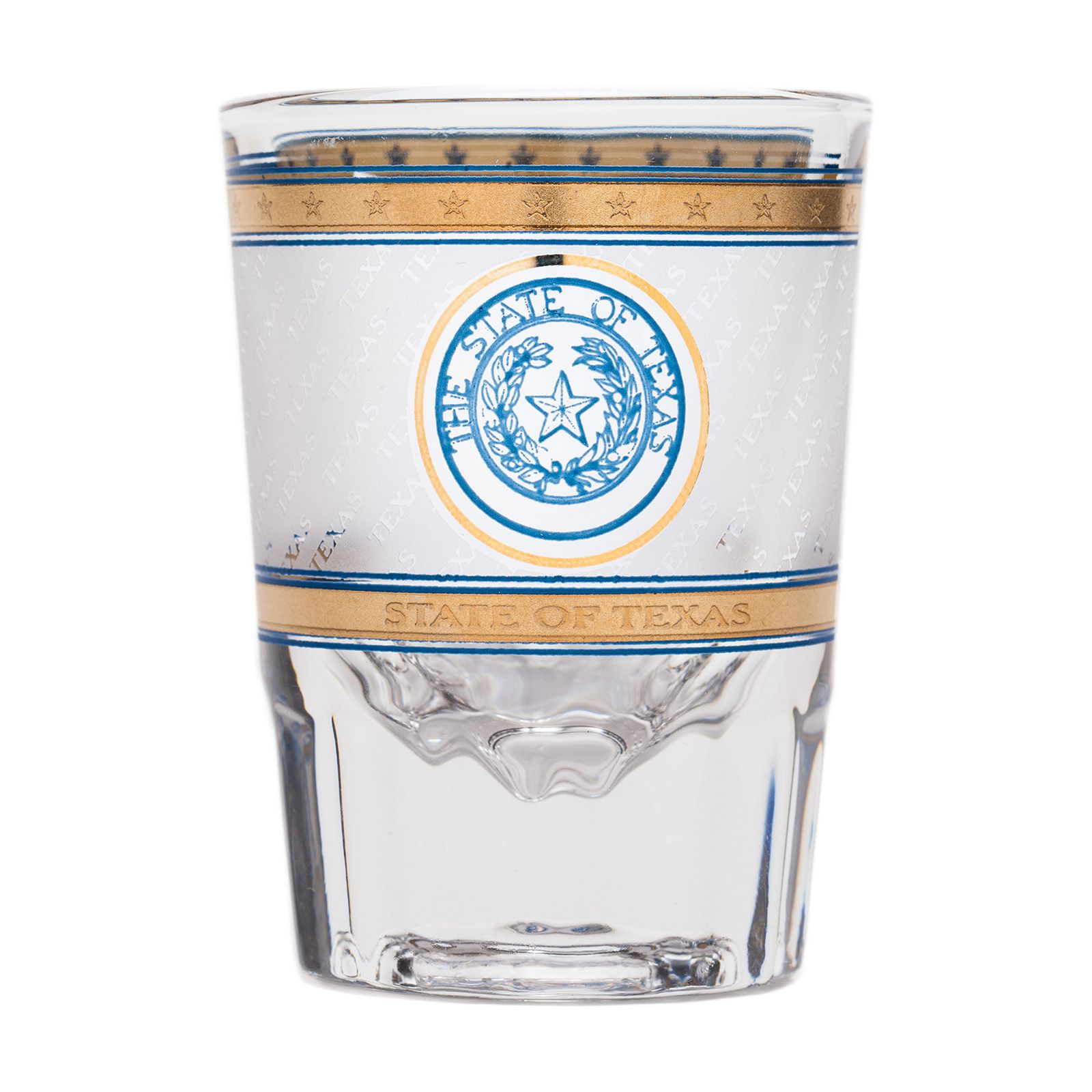 Texas State Seal Frosted Shot Glass