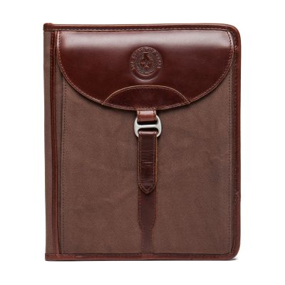 Leather and Canvas Tablet Portfolio