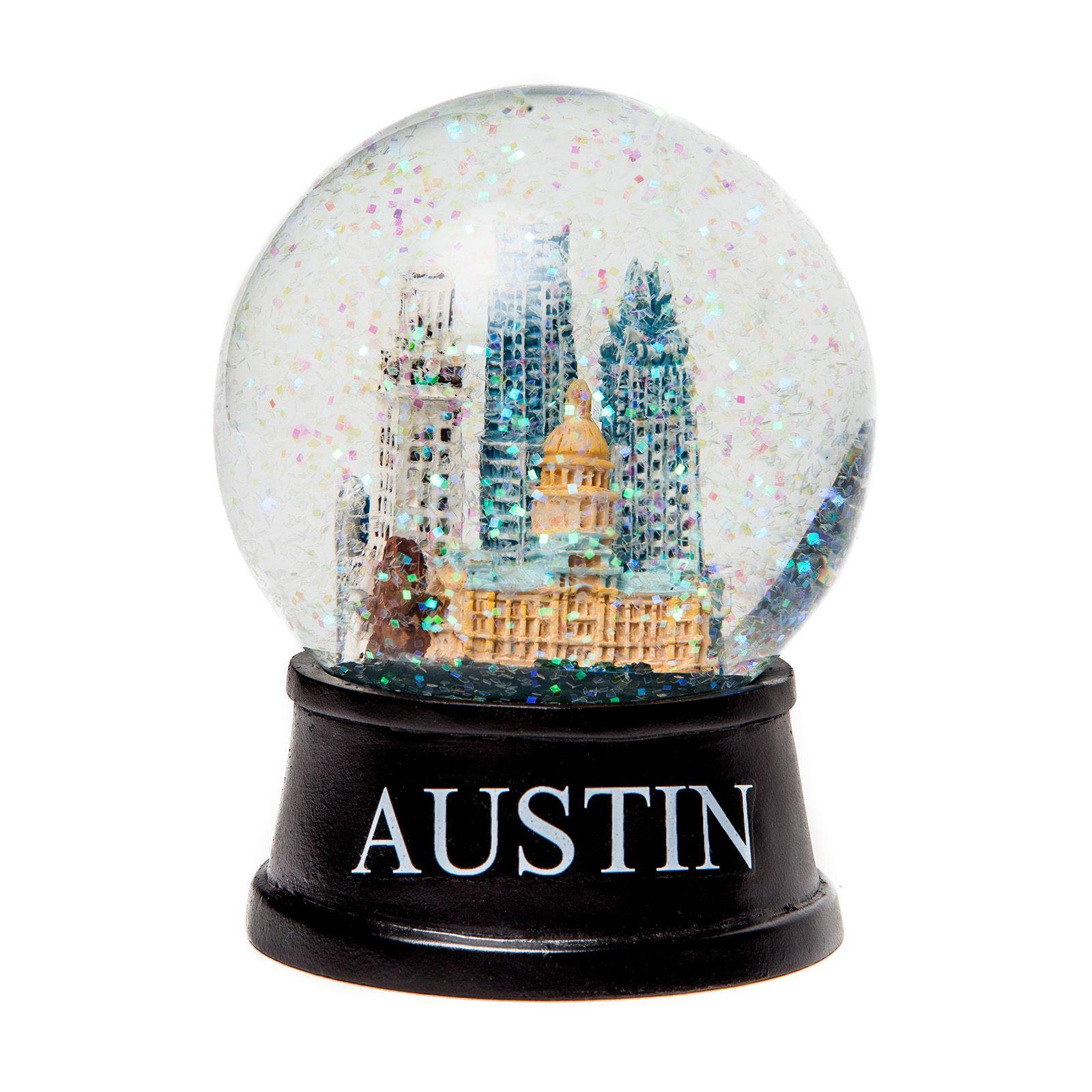 Austin Texas Small Glass Snow Globe Texas Capitol Gift Shop