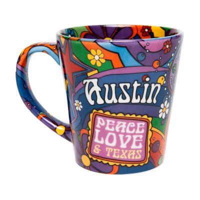 Austin: Peace, Love, and Texas Ceramic Mug