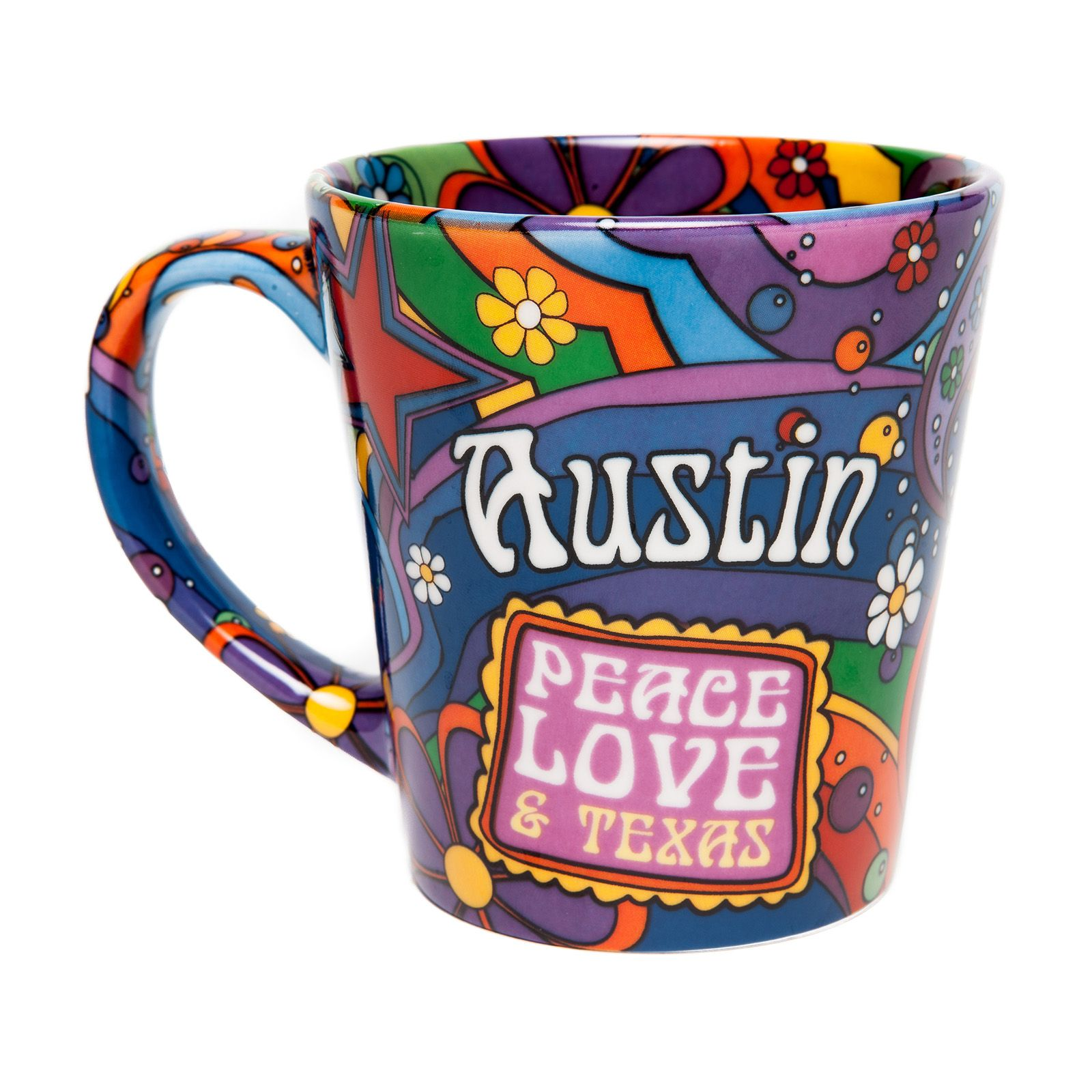 Austin: Peace, Love, and Texas Ceramic Mug