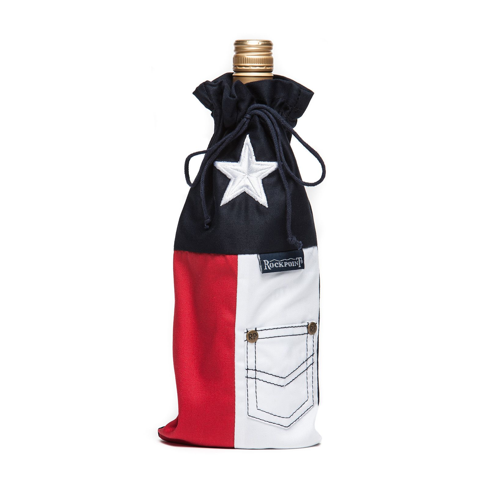 Texas State Flag Wine Bag