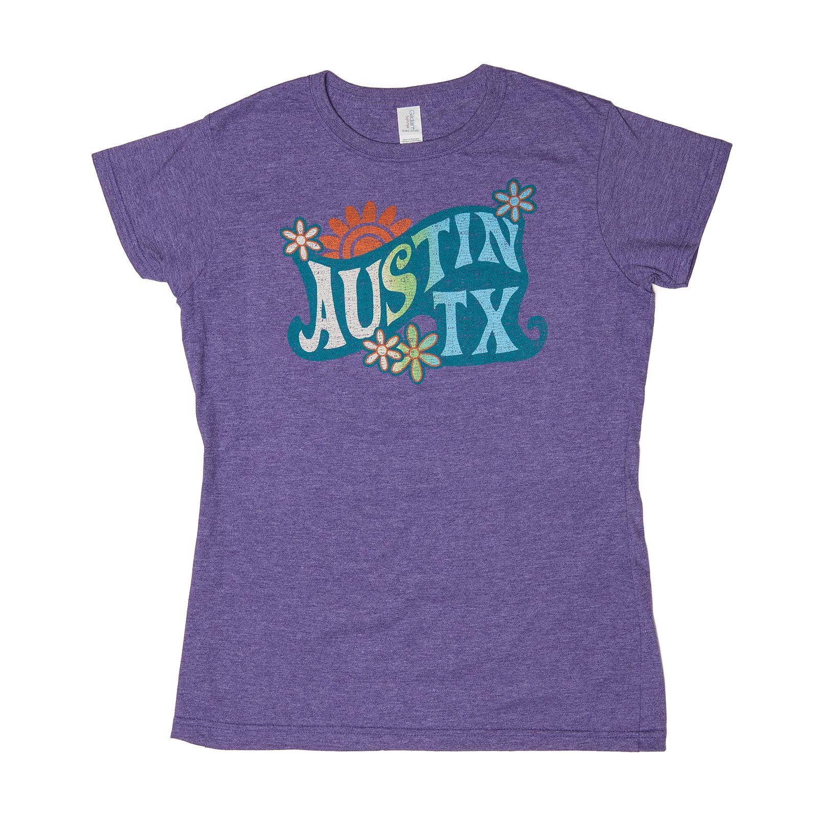 Groovy Austin Texas Purple Women's T-Shirt