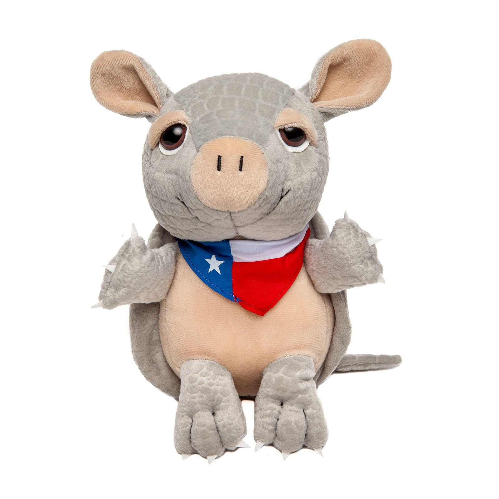 Armadillo with Texas State Flag Bandana Plush Toy