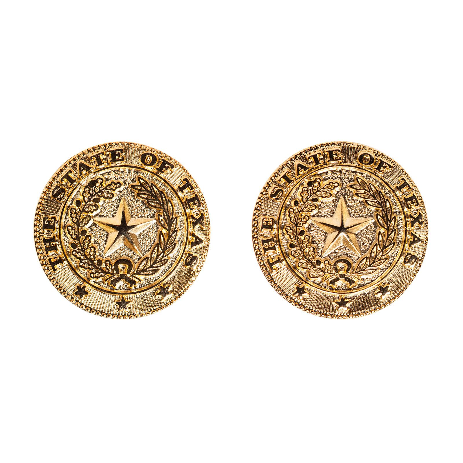 Brass State Seal Earrings