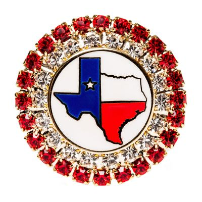 Texas Map Red Stone Brooch