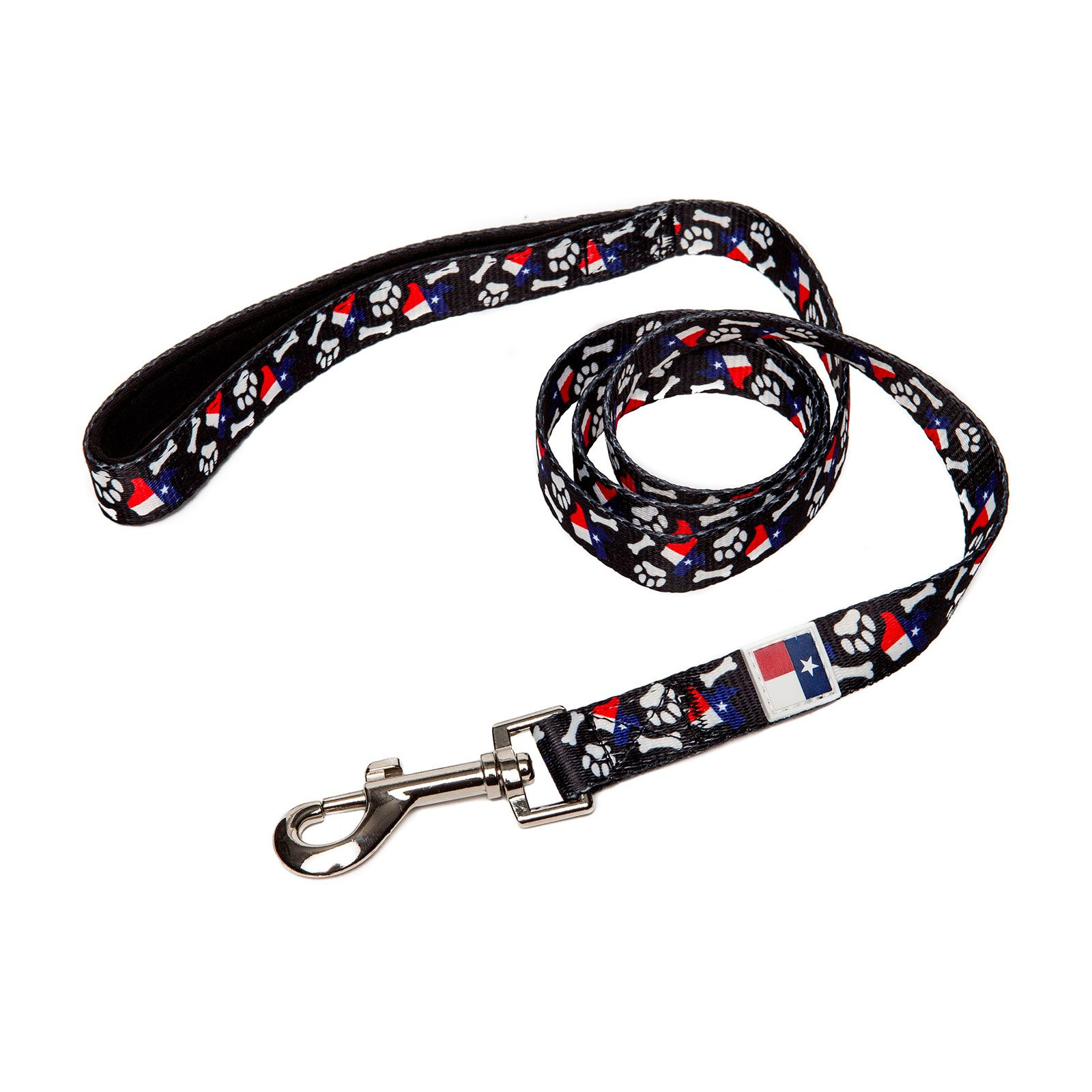 PrideBites™ Texas Bones and Paws Dog Leash