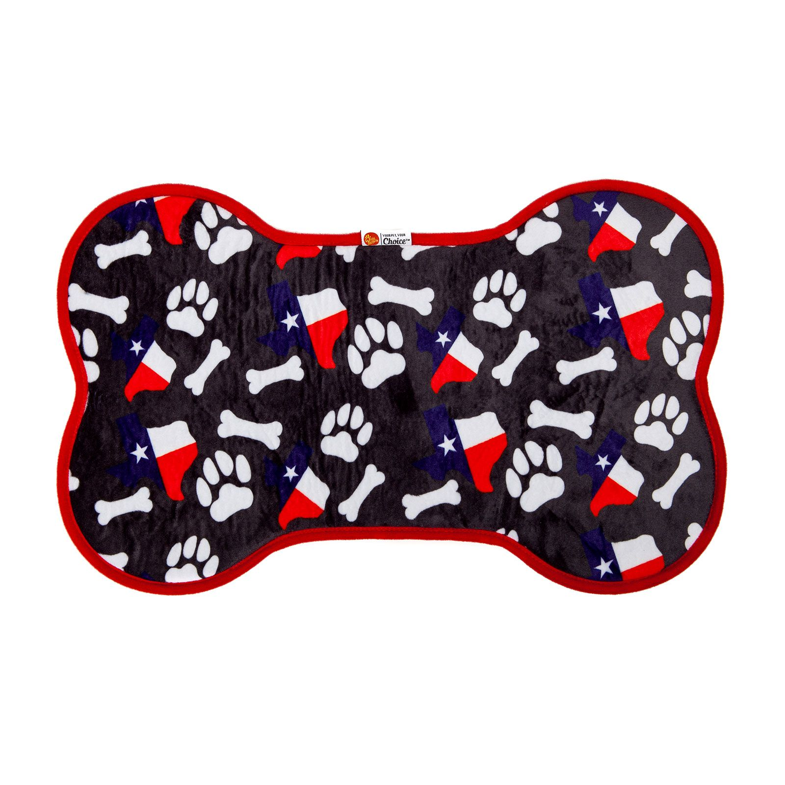 PrideBites™ Texas Bones and Paws Dog Bowl Placemat