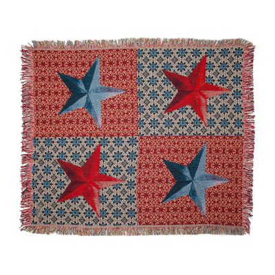 American Star Cotton Jacquard Throw