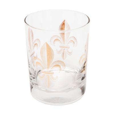 Fleur De Lis Highball Glass