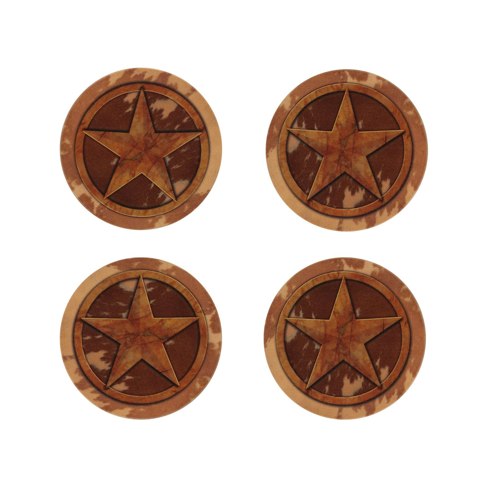 Lone Star Stoneware Coaster Set