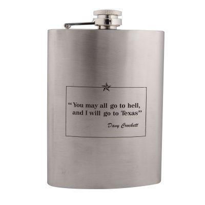 Davy Crockett Quote Metal Flask