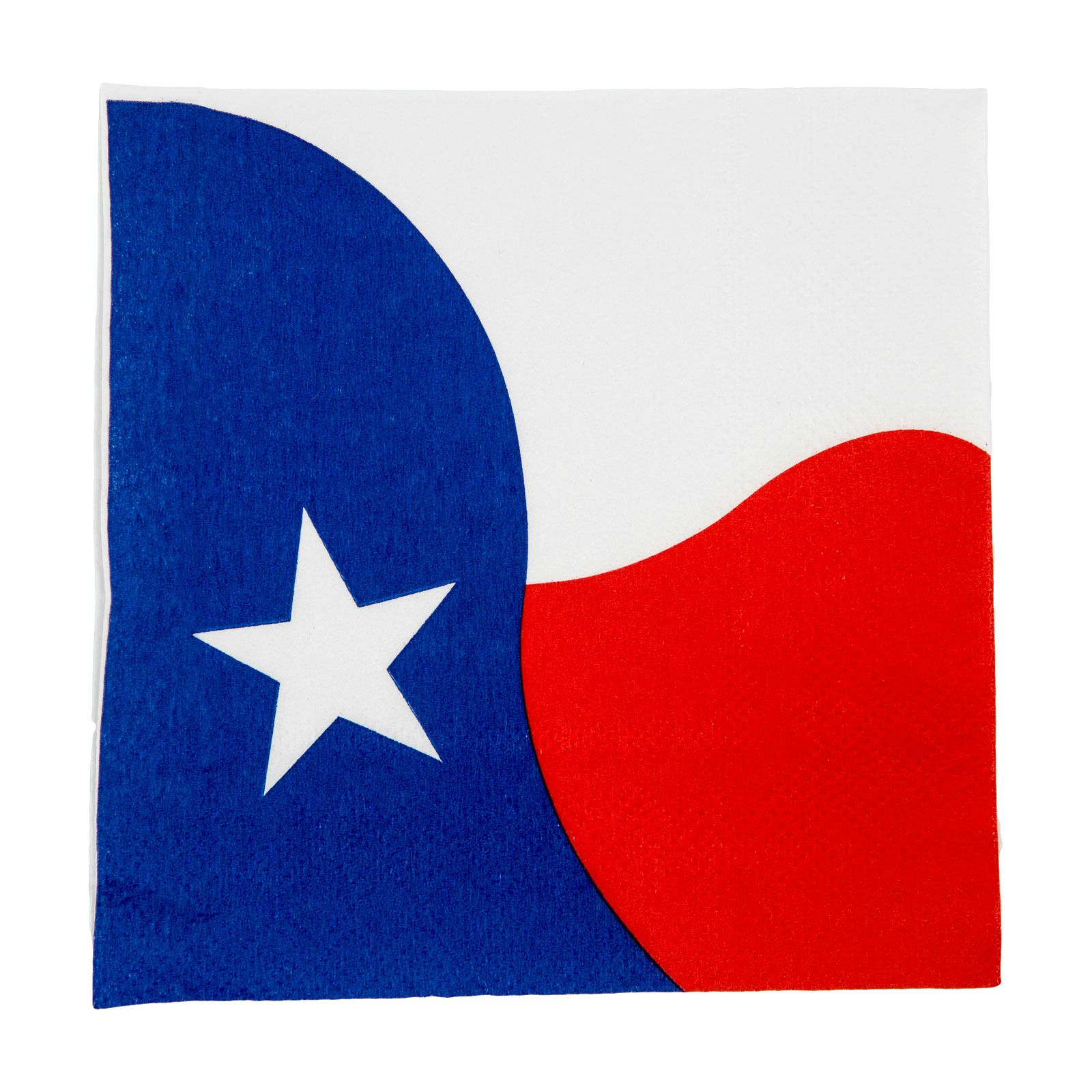 Texas State Flag Paper Cocktail Napkins