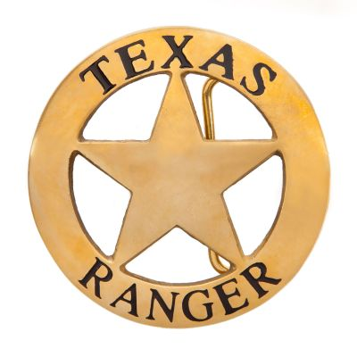 Gold Texas Ranger Belt Buckle