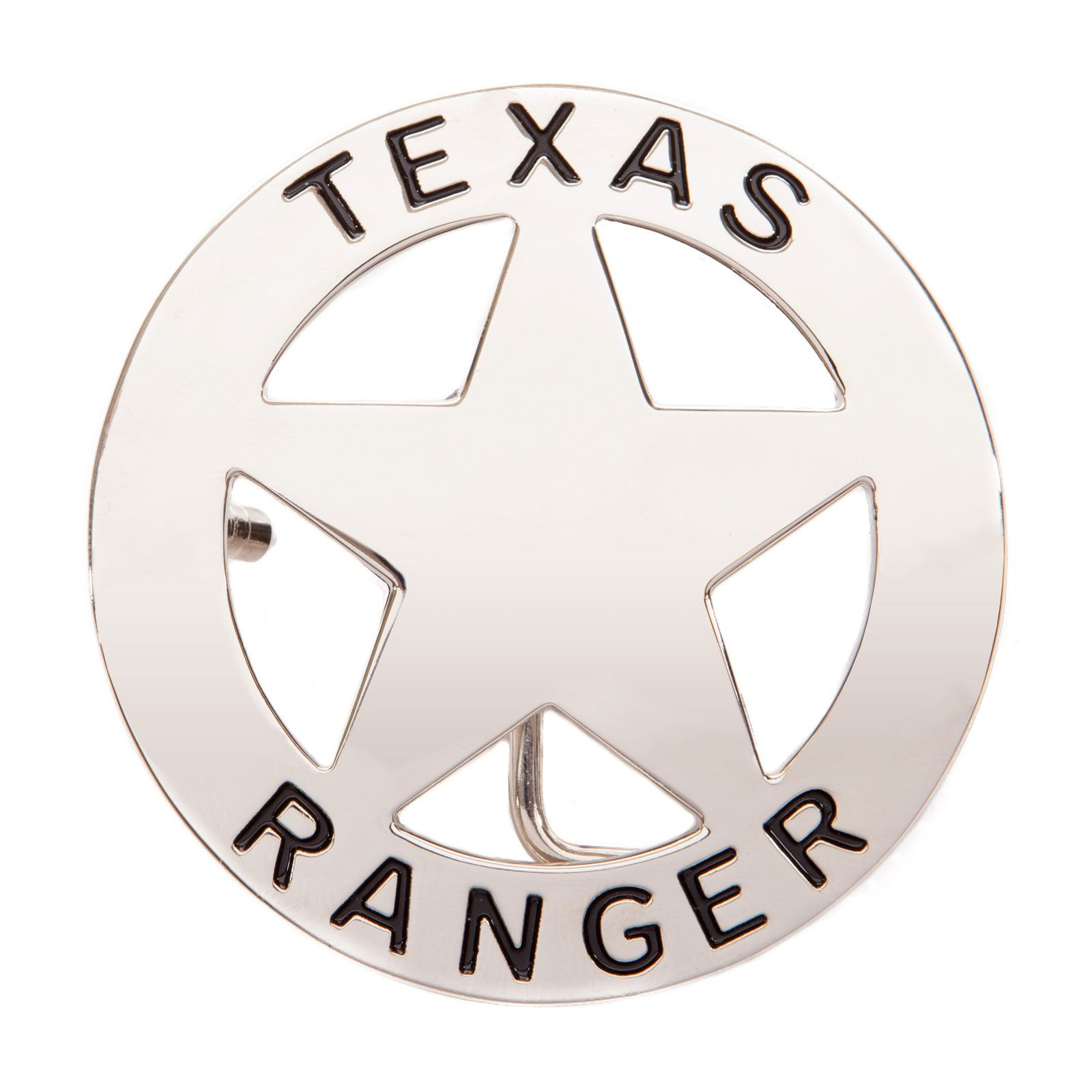 Silver Texas Ranger Belt Buckle