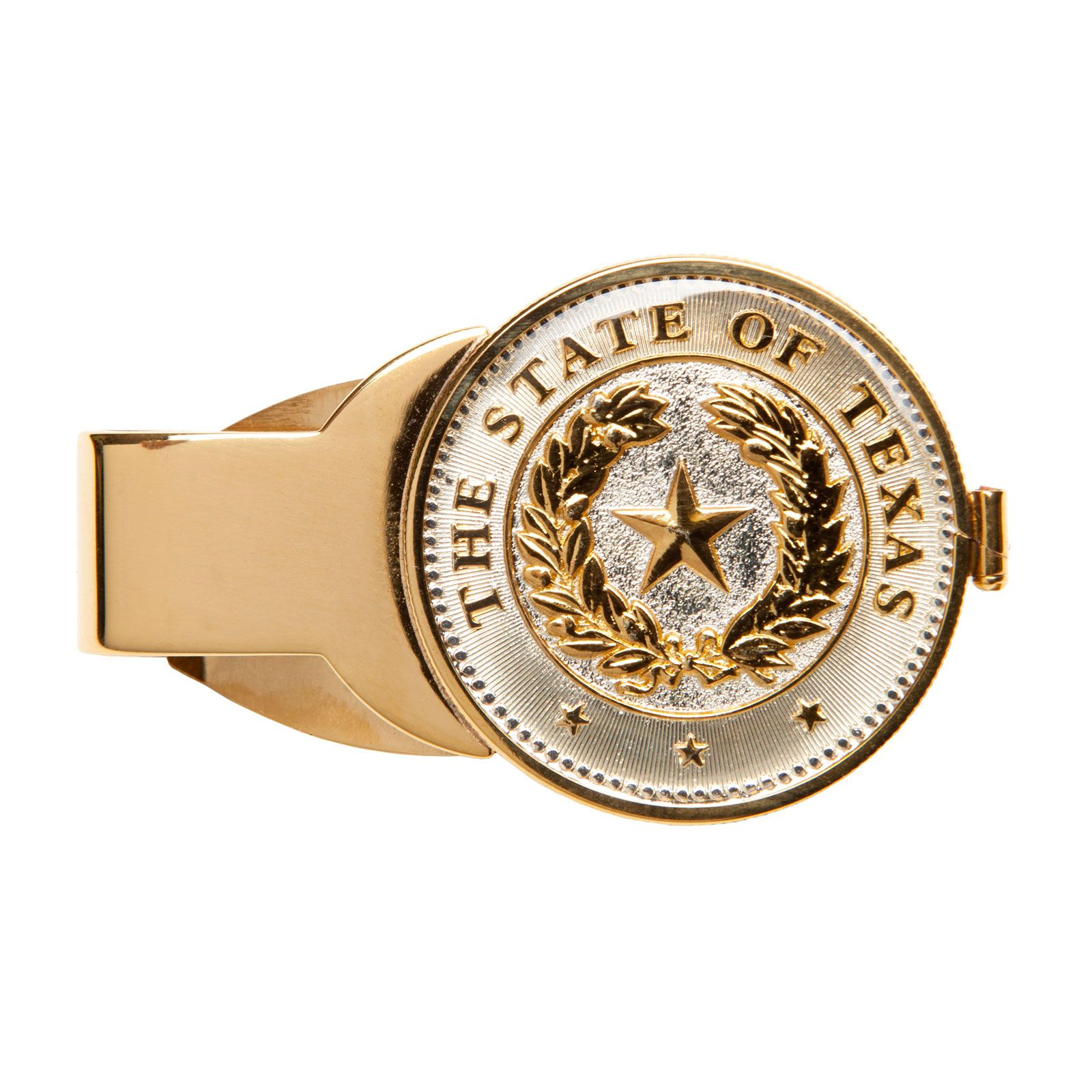 Texas State Seal Gold-Plated Money Clip