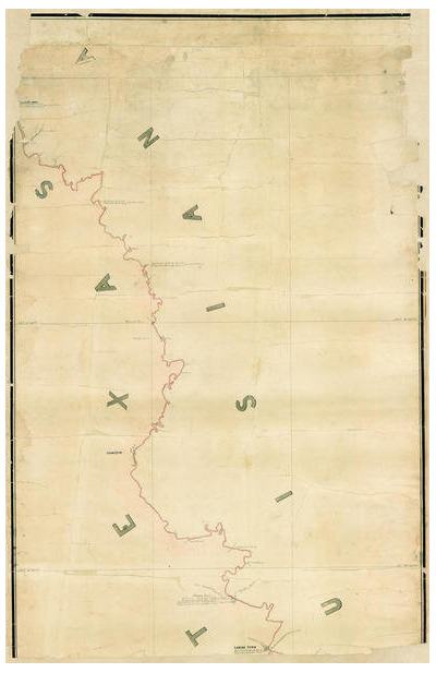 A.B. Gray Map of the River Sabine from its mouth on the Gulf of Mexico in the Sea to Logan's Ferry, 1842 (Pt. 1 of 3 - North)