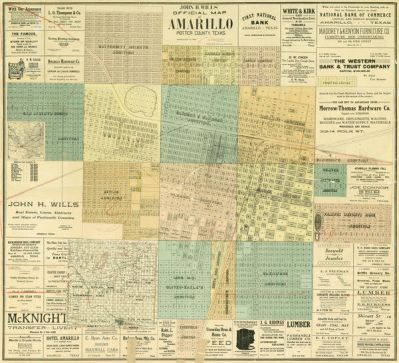 Howard T. Trigg John H. Wills' Official Map of Amarillo, Potter County, Texas, 1909