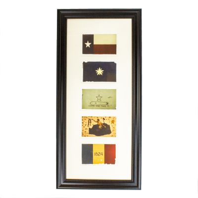 Framed Texas Battle Flags