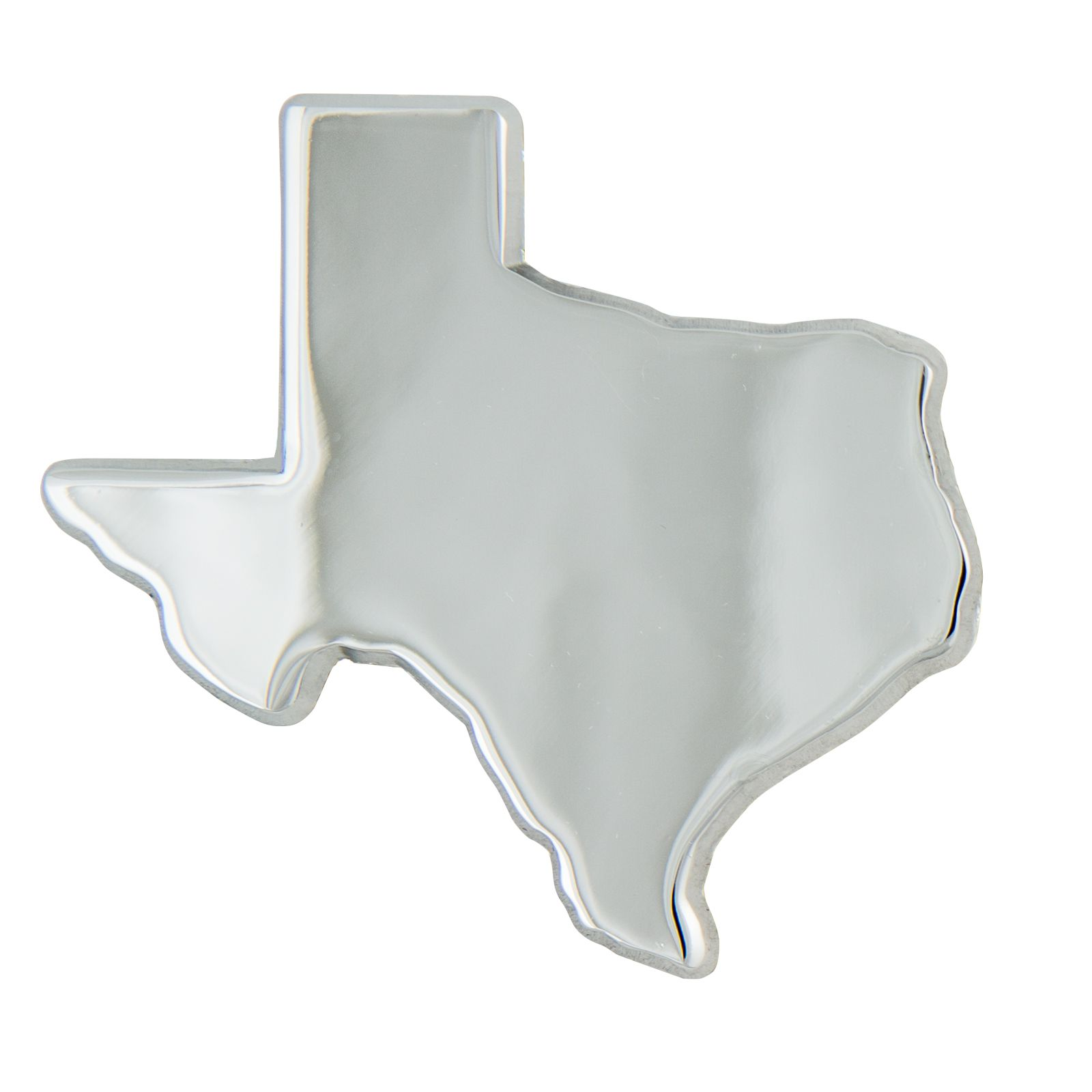 Texas Shaped Chrome Auto Emblem
