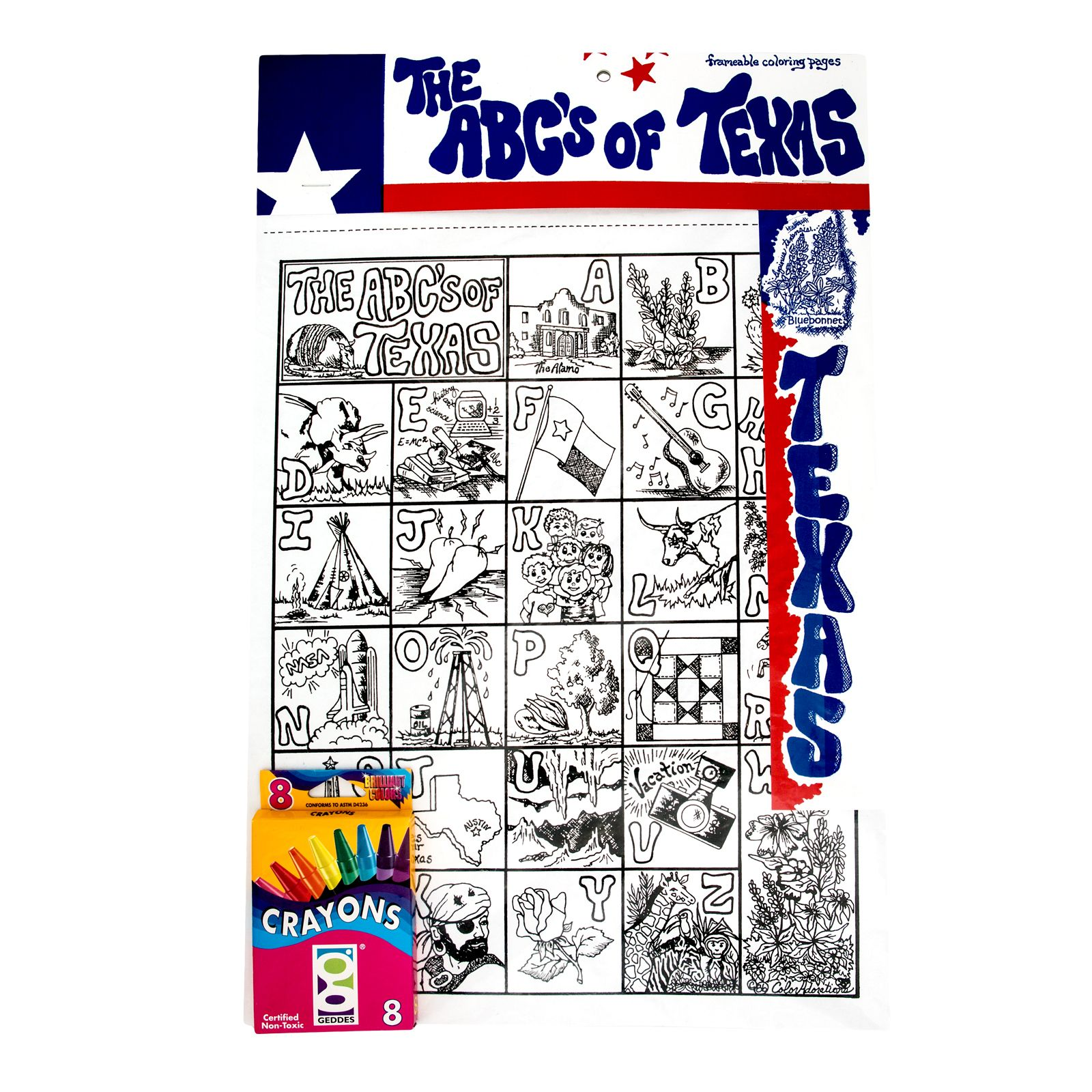 ABC's of Texas Kids Coloring Kit