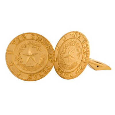 Texas State Seal Gold-Filled Cuff Links