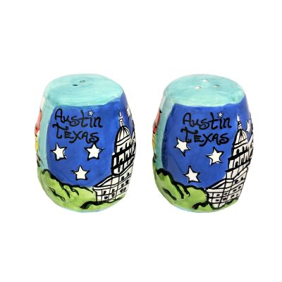 Austin Skyline Ceramic Salt and Pepper Shaker Set
