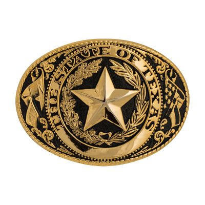 Black and Gold State Seal Belt Buckle