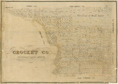 Unknown 19th Century American Mapmaker Crockett County, ca. Late 1800s