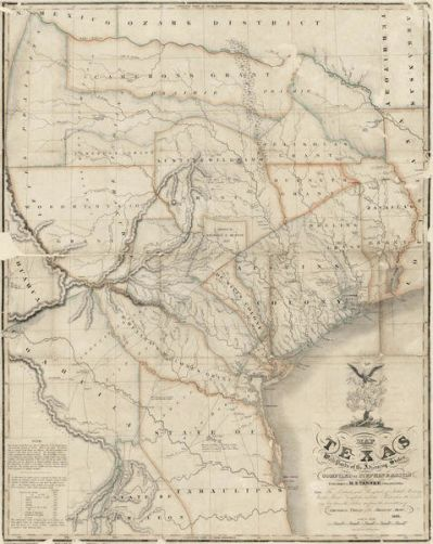 Stephen F. Austin Map of Texas with Parts of the Adjoining States, 1836