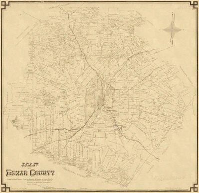 John D. Rullman Map of Bexar County, 1887