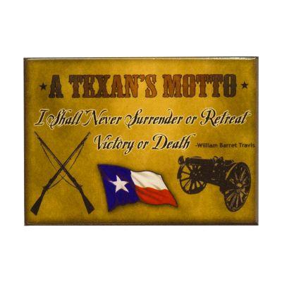 A Texan's Motto Magnet