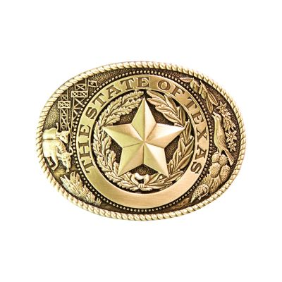 Brass Texas Icons Belt Buckle