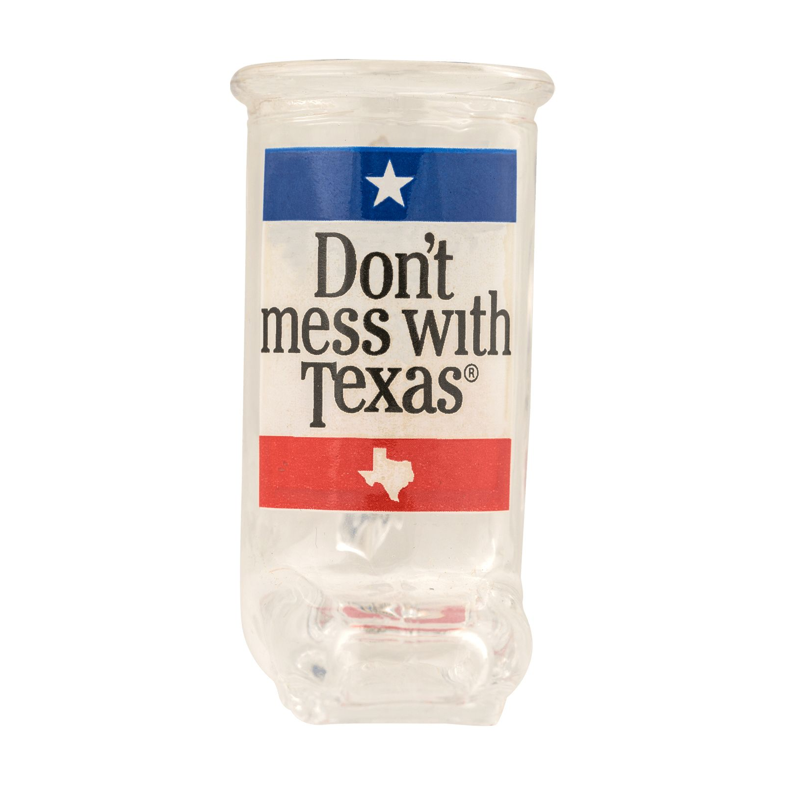 Don't Mess With Texas Boot Shot Glass