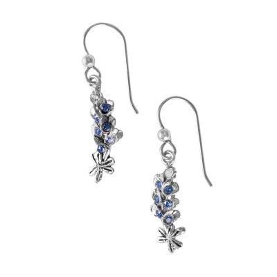 Bluebonnet Sterling Silver Earrings