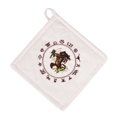 Bronco Buster Cotton Pot Holder