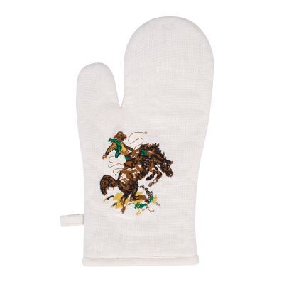 Bronco Buster Cotton Oven Mitt