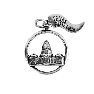 Texas Capitol Sterling Silver Charm