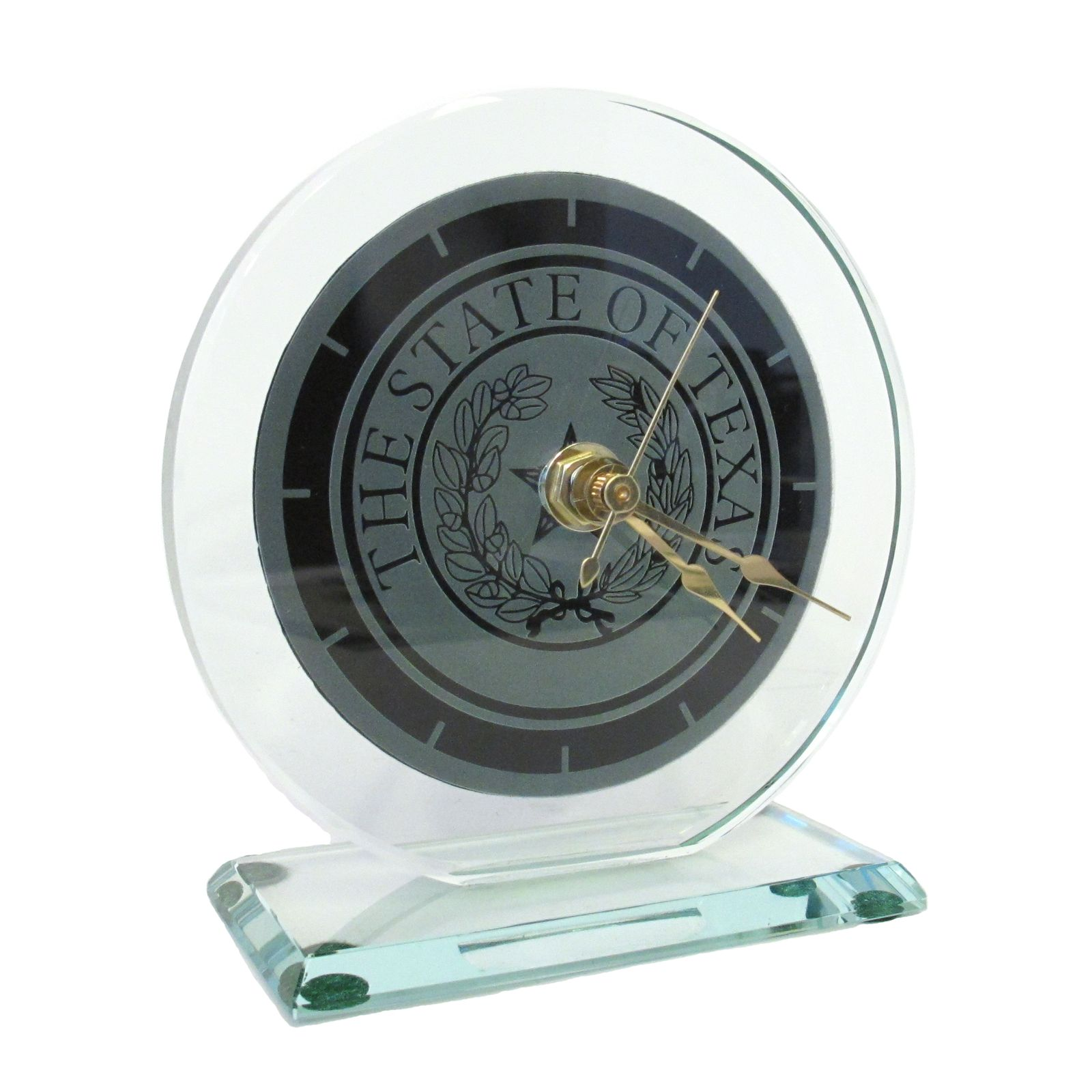 Small Glass State Seal Clock