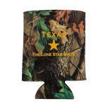 Camo Davy Crockett Quote Koozie front
