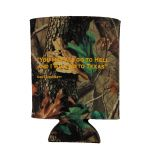 Camo Davy Crockett Quote Koozie back