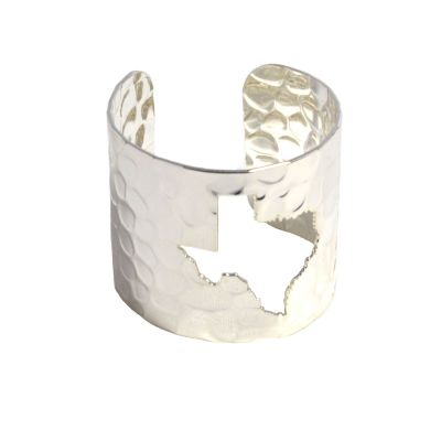 Silver Tone Texas Cuff Bracelet