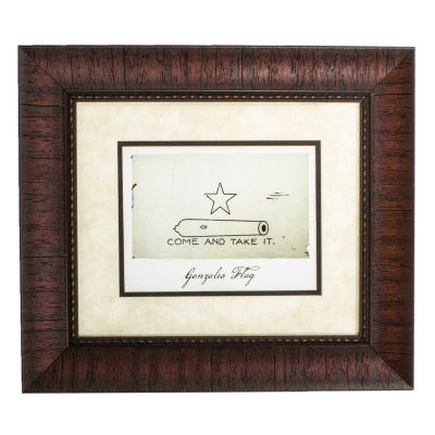 Framed Gonzales Battle Flag