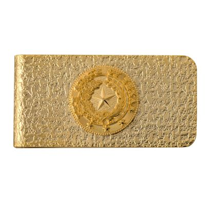 Texas State Seal Gold Tone Money Clip