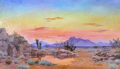 Elmer L. Boone West Texas Landscape, c. 1920