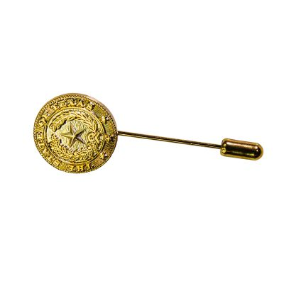 Brass State Seal Stick Pin